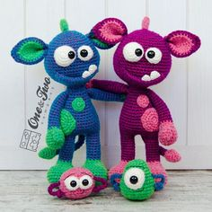 Mel the Monster and Friends Amigurumi PDF Crochet Pattern