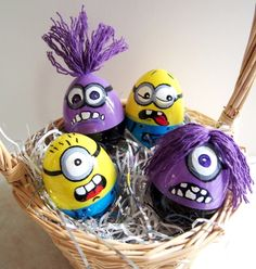 Minion Easter eggs I made for the grandkids!