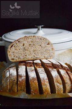 Kinoa, Chia Tohumu ve Keten Tohumlu Ekşi Mayalı Ekmek – Sağlıklı Mutfak