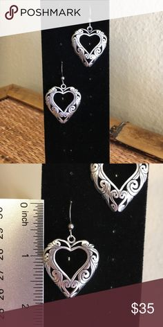 Sterling Silver Heart Earrings Just beautiful. Quality. Just right for the heart collectors. Jewelry Earrings