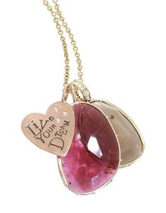 Heather Moore Jewelry - Heart Charm and Stone Necklace - at David Craig Jewelers