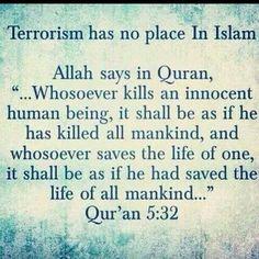 Als je een mens dood betekent dat je heel de mensheid dood,, als je een mens helpt is het precies dat jij heel de mensheid hebt gedood.