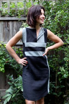 Tutorial for this dress but could use color blocking on any pattern