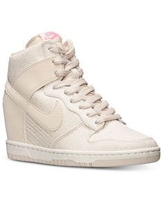 28b1f7e682ab Nike Women s Dunk Sky Hi Textile Casual Sneakers from Finish Line - All  Women s Shoes -