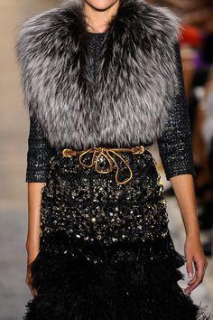 Chanel silver vest, sparkle sweater