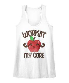 Take a look at this American Classics White 'Workin' My Core' Slim Fit Racerback today!