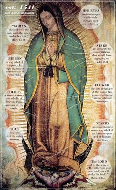 Today we celebrate Our Lady of Guadalupe -- one of my favorites Marian feast days. Our Lady of Guadalupe, patroness of the Americas, bri. Lady Guadalupe, Virgin Of Guadalupe, Art, Catholic Art, Sacred Art
