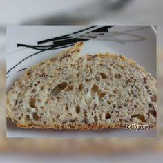 Kovászos lenmagos kenyér | Betty hobbi konyhája Pizza, Bread, Food, Eten, Bakeries, Meals, Breads, Diet