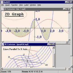 MathGV - Graficos de Funcoes. Veja em detalhes no site http://www.mpsnet.net/G/100.html via @mpsnet Programa para se fazer Graficos a partir de funcoes elementares; possibilita que se construa Graficos em 2D, 3D e Coordenadas Polares. Veja em detalhes neste site