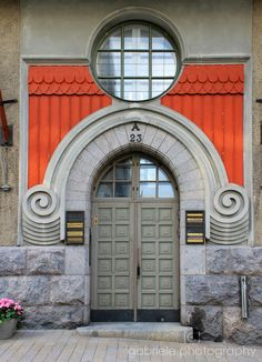 Finland door - covered by what looks like an old wig of the kind that used to be worn by lawyers and parliamentarians Entrance Ways, Grand Entrance, Entrance Doors, Doorway, Entry Ways, Helsinki, Cool Doors, Unique Doors, Portal