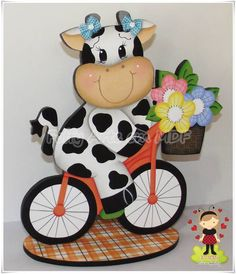 reloj vaca country - Buscar con Google Cow Illustration, Biscuit, Arte Popular, Farm Animals, Decoupage, Mickey Mouse, Lily, Disney Characters, Christmas