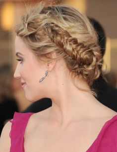 SAG Awards Hair How-to: Dianna Agron | Fashion, Trends, Beauty Tips & Celebrity Style Magazine | ELLE UK