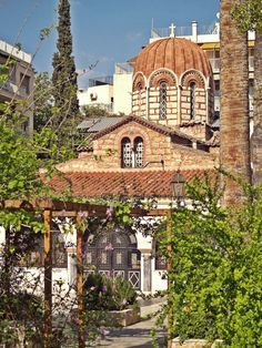 The beautiful Agia Ekaterini Church of the century. Cathedral Church, 11th Century, Acropolis, Kirchen, Old Town, The Locals, Tours, Mansions, Cathedrals