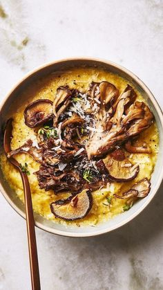 Polenta with Roasted Mushrooms