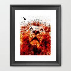 Lion Framed Art Print by Ed Pires - $35.00