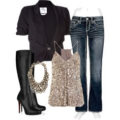 casual outfit with a little bling