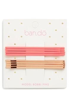 BAN.DO 'Model' Bobby Pin Set (Set of 8) available at #Nordstrom