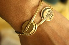 Custom Banjo Bracelet - this is great for someone who plays banjo, or just loves it! by I Adorn U