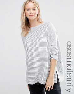 Image 1 of ASOS Maternity Sweater In Ripple Stitch
