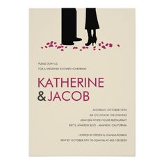 "Romantic Vows Wedding Shower Invites 5"" X 7"" Invitation Card"