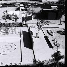Parque Infantil do Clube Esperia (1963) by Waldemar Cordeiro - Paisagismo que Waldemar Cordeiro realizou no Parque Infantil Clube Espéria, em São Paulo, entre os anos 1963/1965. Alguns de seus desenhos incluem os Jogos com Água, os Jogos com Concreto e Ferro, o Pátio, o Vestiário, a Pista de Bicicleta, o Bonde Antigo e o Labirinto.
