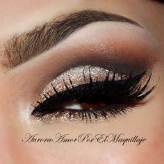 Glitter brown smokey eyes #eyeshadow #smokey #dark #bold #eye #makeup #eyes #dramatic