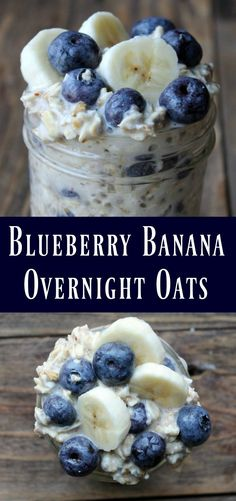 This is a delicious oats in a jar recipe… Blueberry Banana Overnight Oats Recipe. This is a delicious oats in a jar recipe…,Healthy recipes Blueberry Banana Overnight Oats Recipe. Clean Eating Recipes For Dinner, Clean Eating Snacks, Dinner Recipes, Eating Habits, Meal Prep Recipes, Easy Clean Eating Recipes, Clean Dinners, Easy Meal Prep, Cocktail Recipes