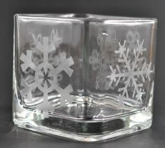 Etched Candle Holder 9