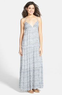 c4fb0cf6ac414 Billabong  Sun Lovin  Woven Maxi Dress available at  Nordstrom Tiered  Skirts