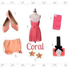 """""""Shades of Coral"""" by Victoria Talia (http://www.treelinedavenue.com/). Visit www.forarealwoman.com   #coral #pastels #fashion #beauty"""