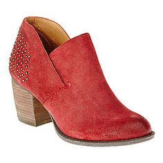 "Naya ""Valerie"" Shoe-Boots in Regal Red Suede"