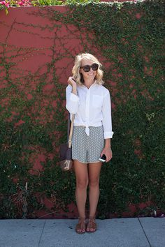 """Getting """"Fresh"""" on the blog today. How to style up your bf's button down! I love menswear."""