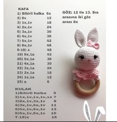 2019 All Best Amigurumi Crochet Patterns - Amigurumi Free Pattern The most admired amigurumi crochet toy models in 2019 are waiting for you in this article. The most beautiful amigurumi toy patterns are all on this site.Baby crochet teethers and pacifiers Crochet Doll Pattern, Crochet Patterns Amigurumi, Amigurumi Doll, Crochet Dolls, Crochet Rabbit, Crochet Bunny, Crochet Baby Toys, Baby Knitting, Baby Mobile