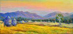 "Saatchi Art Artist Christopher Vidal; Painting, ""Oil on canvas Farms near Grampians, Victoria"" #art"