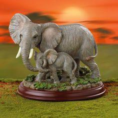 lenox figurines | Peaceful Embrace Elephant Figurine by Lenox