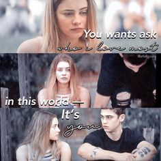 Image may contain: 4 people, text Just Love, Love Him, Crush Movie, Hardin Scott, After Movie, Hessa, Girl Meets World, Cute Family, Movies 2019