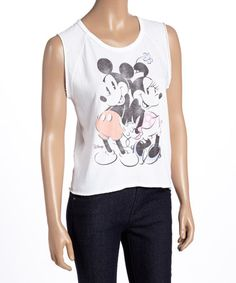 Another great find on #zulily! Mickey & Minnie Mouse Tank - Women #zulilyfinds