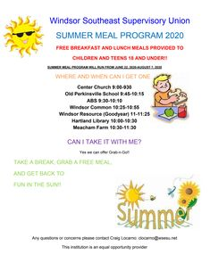 Food Service Flyer #WSESUnews Service Program, Food Service, Free Breakfast, Eat Breakfast, Lunch Recipes, Summer Recipes, Early Childhood Program, Dear Parents, Get One