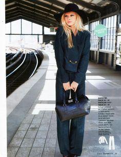 Burda magazine featured the Wool Floppy Hat by #AmericanApparel, Italy, August 2013.  #Burda #magazine #hat