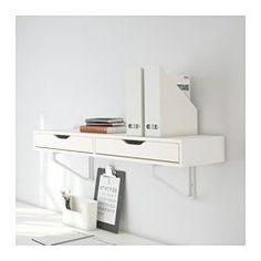 EKBY ALEX Regal mit Schubladen, weiß - 119x29 cm - IKEA