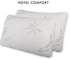 Hotel Comfort Bamboo Covered Memory Foam Pillow Natural Contour, Look Good Feel Good, Memory Foam, Bed Pillows, Pillow Cases, Bamboo, Cover, Coloring Books, Top
