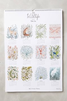 Wildlife 2015 Calendar - anthropologie.com