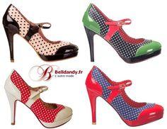 Beige Noir Rouge ou Bleu Marine ?  Chaussures Escarpins Pin-Up Rockabilly 50s Mary Jane Pois Polka  http://www.belldandy.fr/catalogsearch/result/?q=bnd008 https://www.facebook.com/belldandy.fr/photos/a.338099729399.185032.327001919399/10154848553204400/?type=3