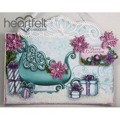 Heartfelt Creations - Snowy Sleigh Wall Hanging Project
