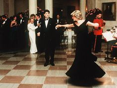 A FULL DANCING CARD  During the Waleses' first visit to the U.S., in 1985, Diana danced at the White House with John Travolta, while Prince Charles chatted up Nancy Reagan. Later that night, the Princess waltzed with Neil Diamond and Clint Eastwood.