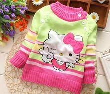 Meninas dos meninos da criança camisola tarja criança 100% algodão blusas de tricô casaquinho de bebê roupas de outono das crianças(China (Mainland))