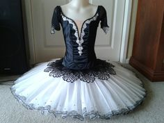 Spanish style tutu in black and white by Margaret Shore