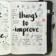Things to improve, page idea for bullet journaling