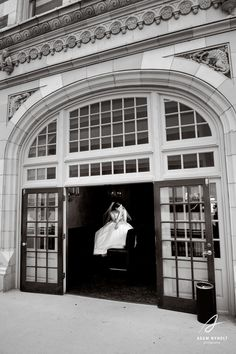 Bridal portrait at the Rice Crystal Ballroom. Photography by Adam Nyholt, Photographer.