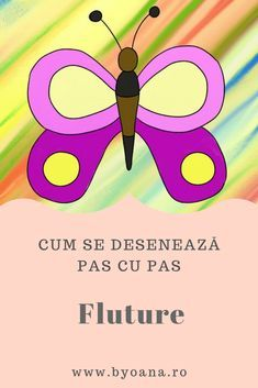Fluture - cum se deseneaza, #desen pas cu pas #learntodraw #drawing Chart, Activities, Coloring, Animals, Insects, Animales, Animaux, Animal, Animais